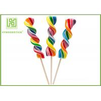 Cheap Biodegradable Wooden Lollipop Sticks With Ball Hot Stamping Logo Printed for sale