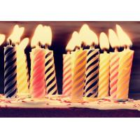 Cheap Decorative Spiral Birthday Candles , Funny Smelless Twisted Birthday Candles for sale