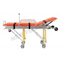 Aluminum Alloy Adjustable Wheeled Automatic Loading Stretcher With 65° Back Angle