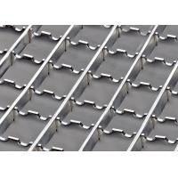 Cheap Anti Slip Stainless Steel Serrated Grating , Sidewalk HDG Steel Grating With Clamp for sale