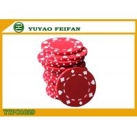 Cheap Poker And Clubs Pattern Clay Composite Poker Chips 13.5G PANTONE Colors for sale