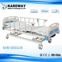 Cheap Plastic Cranks Motorised Hospital Bed 1.2mm Thickness 3 Functions Hospital Furniture for sale