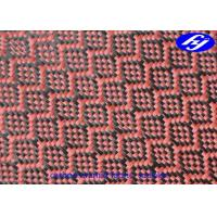 Mjacquard Sudoku Pattern Red Carbon Fiber Fabric With Low Flammability