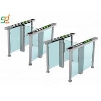 Cheap AC 220V Glass Electric Swing Gate Turnstiles 40 People / Min Normal Open for sale