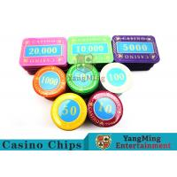 Cheap Multi - Color Print Crystal Casino Poker Chip Set Tough And Durable for sale