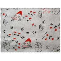 Cheap 55/45 LINEN COTTON  FABRIC BLENDED WITH SCREEN PRINTED   CWT #1515 for sale