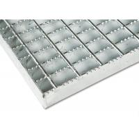Cheap Industrial Stainless Steel Bar Grating Optional Serrated / Algrip Surfaces for sale