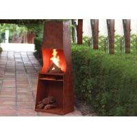 Cheap Weather Resistant Corten Steel Fire Pit Rustproof OEM / ODM Available for sale