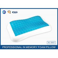 Cheap Contour memory foam cooling gel pillow in Summer for relieving neck fatigue for sale