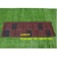 Cheap Wine / Black And White Shingle Stone Coated Steel Roof Tile For Building Material for sale