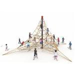 Cheap KAIQI 2018 Children Outdoor Playground Climbing Nets Outdoor Children Amusement Park Playground Equipment for sale