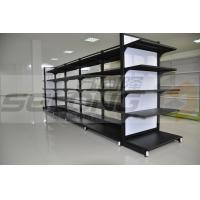 Cheap Double Sided Metal Supermarket Display Racks , Supermarket Gondola Shelving for sale