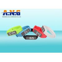 Cheap Multifunction Hf Rfid Tags,Custom Printed Rfid Wristbands With Led Pedometer for sale