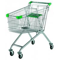 Cheap Indoor / Outdoor Supermarket Shopping Trolley Customizable Color With Child Seat for sale