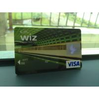 Cheap Glossy VISA Smart Card / Prepaid Debit Card without Personalization for sale