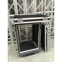 Buy cheap 9mm Thickness Plywood Black 12U Amplifier Anti shock Rack Flight Case from wholesalers