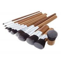Cheap Custom Eco Bamboo Makeup Brushes / Woman High End Travel Makeup Brushes for sale