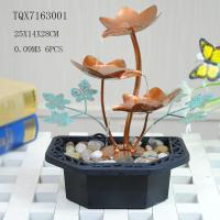 Portable Indoor Table Water Fountain For Home Decoration , Leaf Design  25 X 14 X 28 Cm