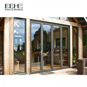 Luxury Aluminium Folding Sliding Doors , Big Grey Aluminium Bifold Doors