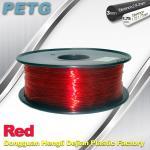 Cheap Hight Transparent Red PETG 3D Printer Filament Acid And Alkali Resistance 1.0kg / roll for sale