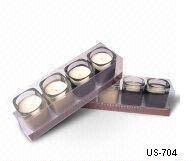 Flatware Model No.:US-704Product Four piece vanilia candle sets