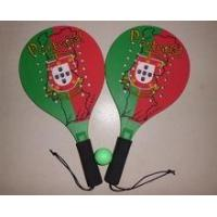 Promotion Wooden beach tennis rackets with holes, Wooden beach rackets