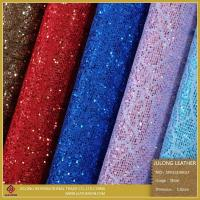 Cheap Special Shoe Material Flower Lace Glitter PU Leather (SP013) for sale