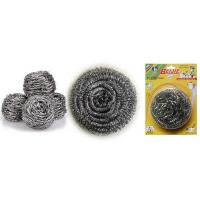 Cheap stainless steel scourer/sponge/cleaning ball for kitchen with plastic handle Scourer for sale
