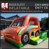 Cheap car inflatable combo bouncer slide bouncer for sale