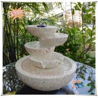Cheap Imitate Marble LED Polyresin Indoor Glossy Tiered Pot Small Fountain for sale