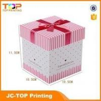 Cheap Wholesale recycled paper box / Ribbon rigid cardboard gift box for sale