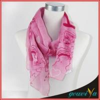 Cheap Printing Pink Loveliness Cartoon Scarf for sale