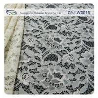 Cheap Nylon Viscose Corded Lace Fabric For Clothing 145CM - 150 CM Width CY-LW0015 for sale