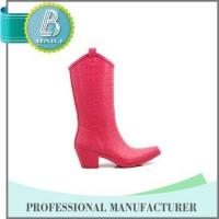 Hot selling 10 Years experience Removable fashionable ladies plastic rain boots