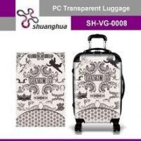 Cheap summer holiday&travelling transparent pc customized suitcase for sale