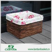 Cheap Cheap square lined handmade wicker storage basket for sale