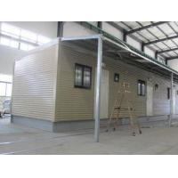 Fully Decorated Finished Bunk prefabricated House / Yellow Contemporary Modular Homes