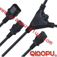 Cheap one to Two connectors,power cord,power cord three-way connector for sale