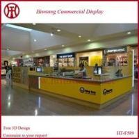 Cheap Custom crepe kiosk in mall with led lights for sale
