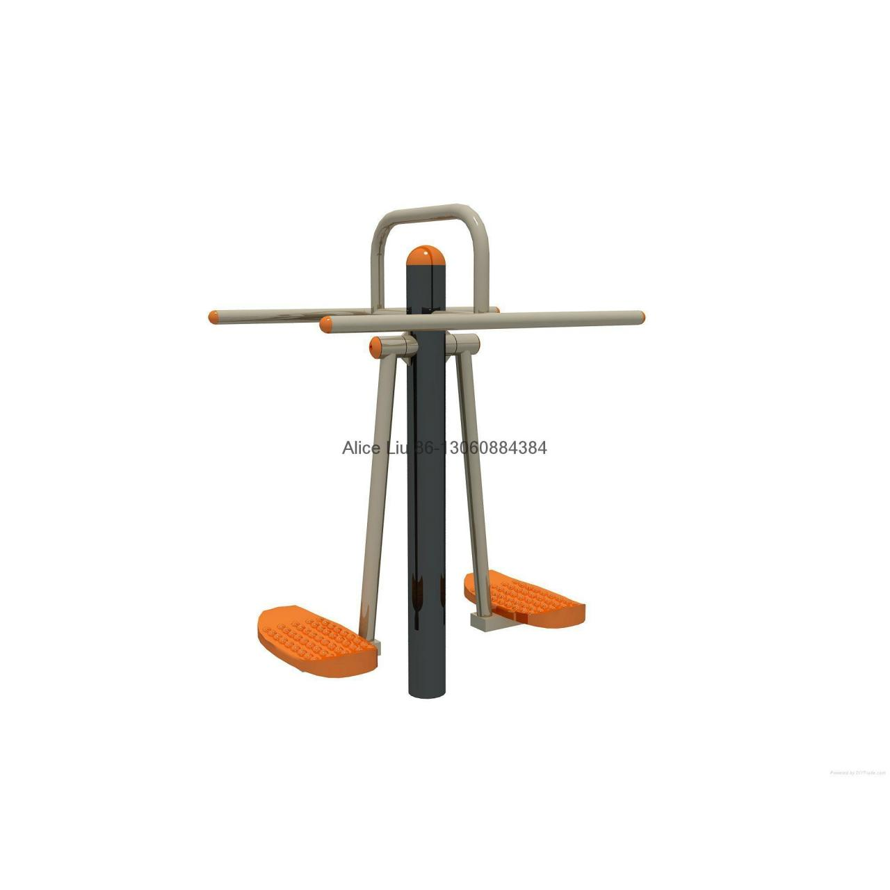 Cheap Double wave plate park steel outdoor fitness equipment for sale