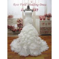 WDZ25 Mermaid Lace Up Off The Should Strapless Beading Wedding Dress