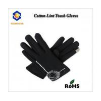 Cheap cotton lint touch screen glove for all touch screen device like smart phone and keep warm for sale