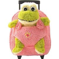 Kids-Beige-Rolling-Backpack-With-Frog