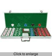 Cheap Poker Sets Lucky Bee 500 Chip Set in Aluminum Case for sale
