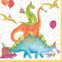 Cheap Partysaurus Paper Cocktail Napkins - 20 per package for sale