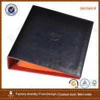 pu leather portfolio with 3 ring metal binder for hotel
