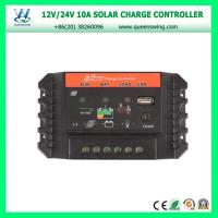 Cheap QWP-SC1024U2016 New 10A 12/24V LED dual USB & DC Light port PWM Solar Charge Controller for sale