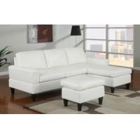 Cheap Sausalito Cream Leather Small Sectional Sofa by Urban Cali for sale