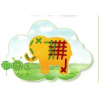 silicone animals threading cardboards kids puzzle toy