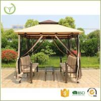 Cheap Garden three seater swing gazebo with mosquito net patio swing canopy tent for sale